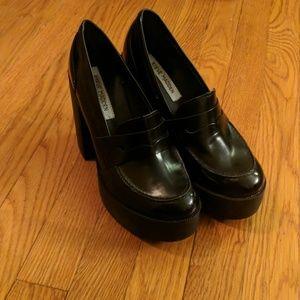 Steve Madden Platform Loafers, Size 9